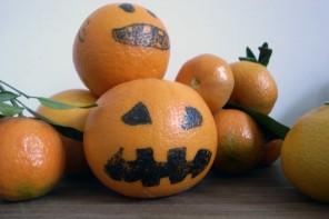 craft basteln manualidad kids kinder children ninos halloween naranjas orange oranges