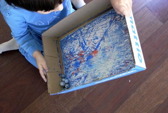 Dibujos con canicas / Marble painting / Murmel Bild