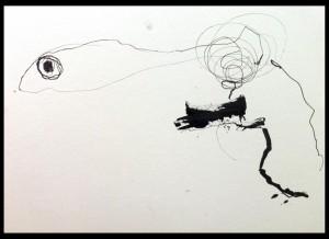 Pintura con tinta / Ink drawing / Tinten Bild