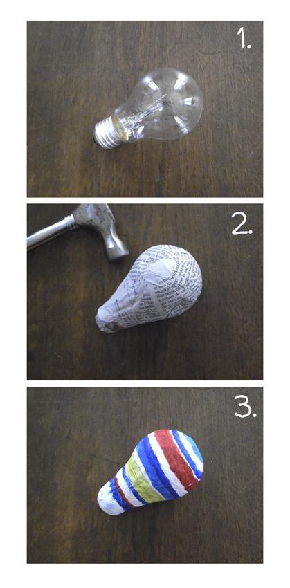 Maraca de bombilla / Eletric bulb rattle / Glühbirnen-Rassel