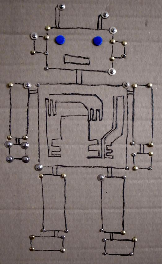 Cartón robot / Cardboard robot / Karton Roboter
