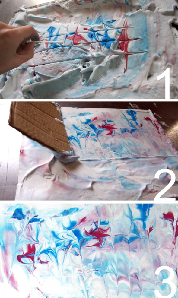 Papel jaspeado / Marbled paper / Marmoriertes Papier