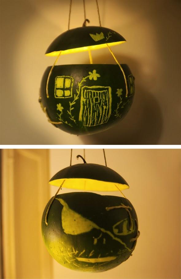 Farolas de sandia / Watermelon lanterns / Wassermelonen Laternen