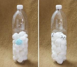 Snow in a bottle / Nieve embotellado / Abgefüllter Schnee