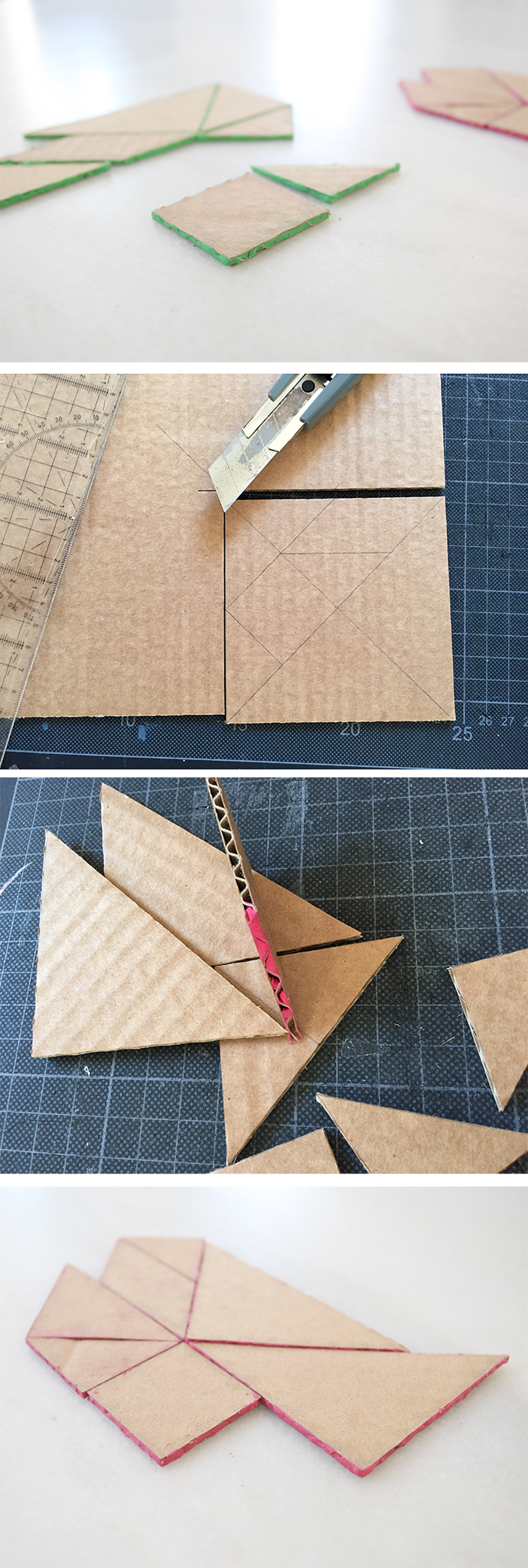 tangram cardboard karton carton ninos kids kinder selber machen basteln do it yourself fun