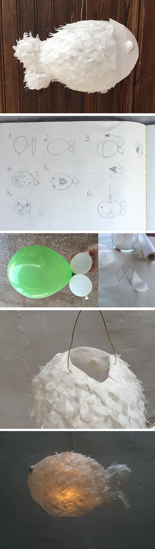 globo pez laterne luftballon fisch fish balloon kids craft easy kinder basteln manualidad ninos faroleta