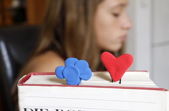 Marcapáginas facil / Easy Bookmark / Leichtes Lesezeichen