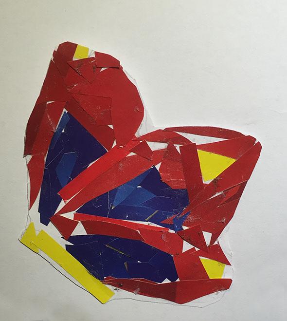 mariposa papierschnipsel trocitos de papel cortar auschneiden kleben craft butterfly