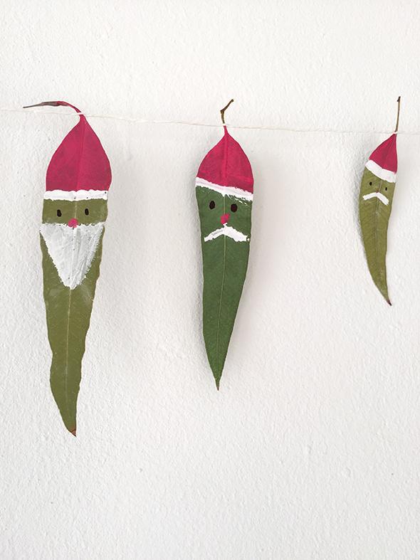 leaves blätter hojas pintar malen bemalen color pintura navidad christmas weihnachten basteln craft manualidad kinder kids ninos