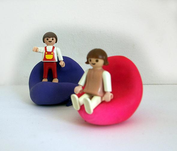 puff pouffe playmobil puppenhaus casa muñeca miniatur mueble furniture möbel