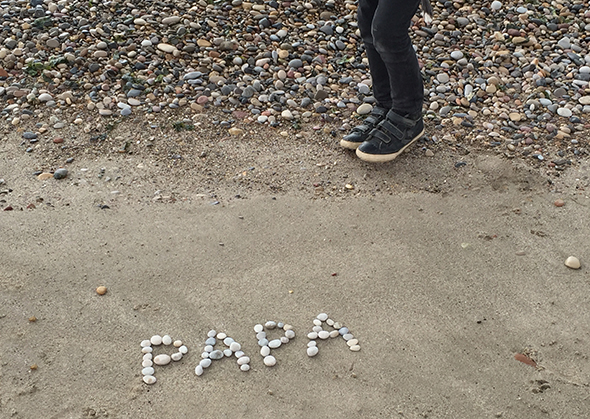 papa steine dia del padre rocks fathersday playa strand piedra