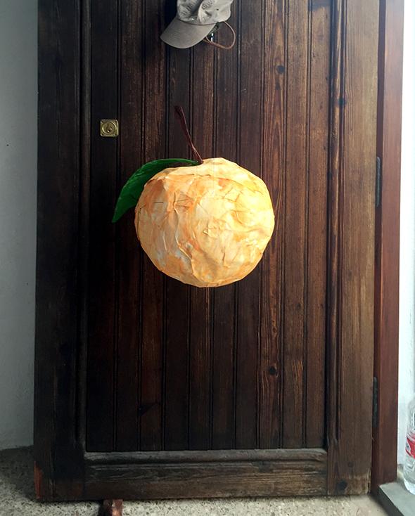 piñata birthday kindergeburtstag cumpleaños diy craft basteln manualidad fun spass orange naranja