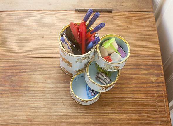 Lapicero pencilholder stifthalter el hada de papel for Lapiceros reciclados manualidades