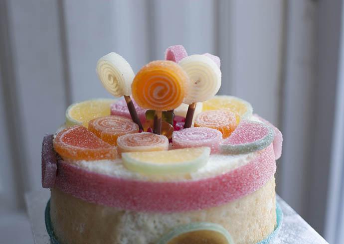 Tarta de chuches / Cake of sweets / Süssigkeiten Kuchen