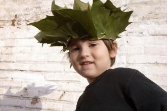 craft basteln manualidad kids kinder children ninos corona krone crown hoja blätter leafs