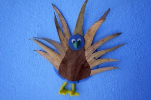 pavo real, peafowm craft basteln manualidad kids kinder children ninos