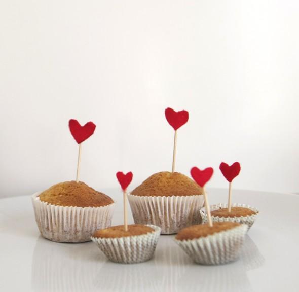 filtro corazon madalena cupcake san valentin heart valentins day muffin valentinstag herz filz