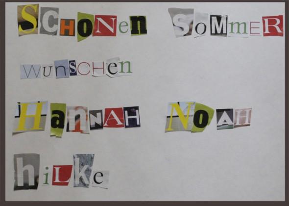 Letters / Letras / Buchstaben