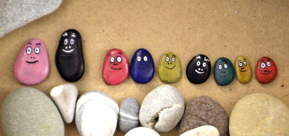 barpapapas, steine, malen, rocks, pintar, piedras, paint, kinder, kids, niños