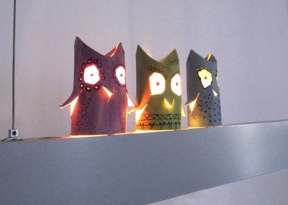 Owls With A Light Buhos Con Luz Eulen Mit Licht El Hada De Papel