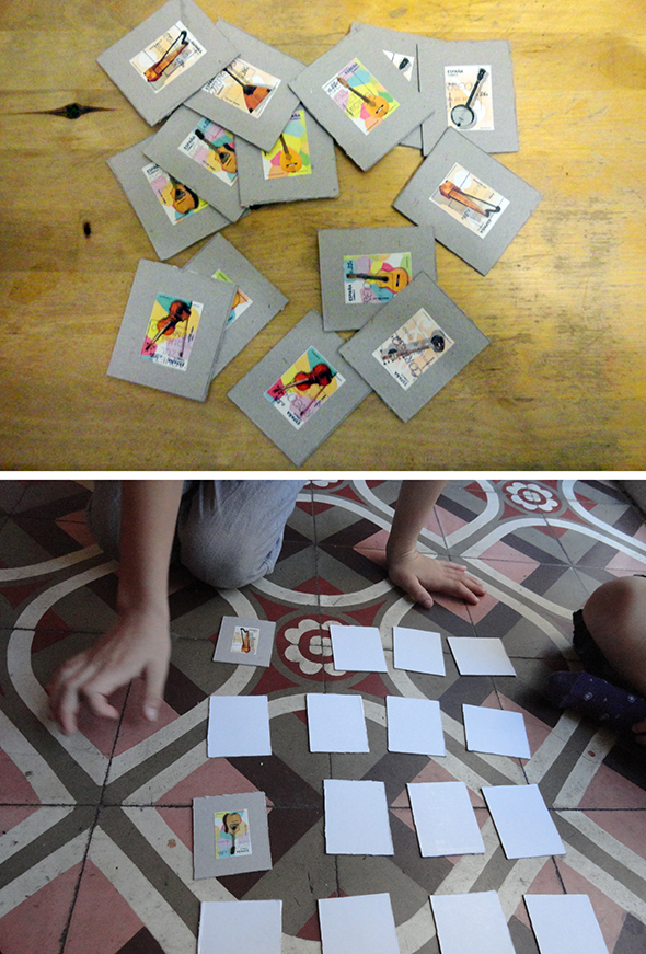 Juego Memory spiel game kind kid niño manualidad craft basteln briefmarken stampps sellos