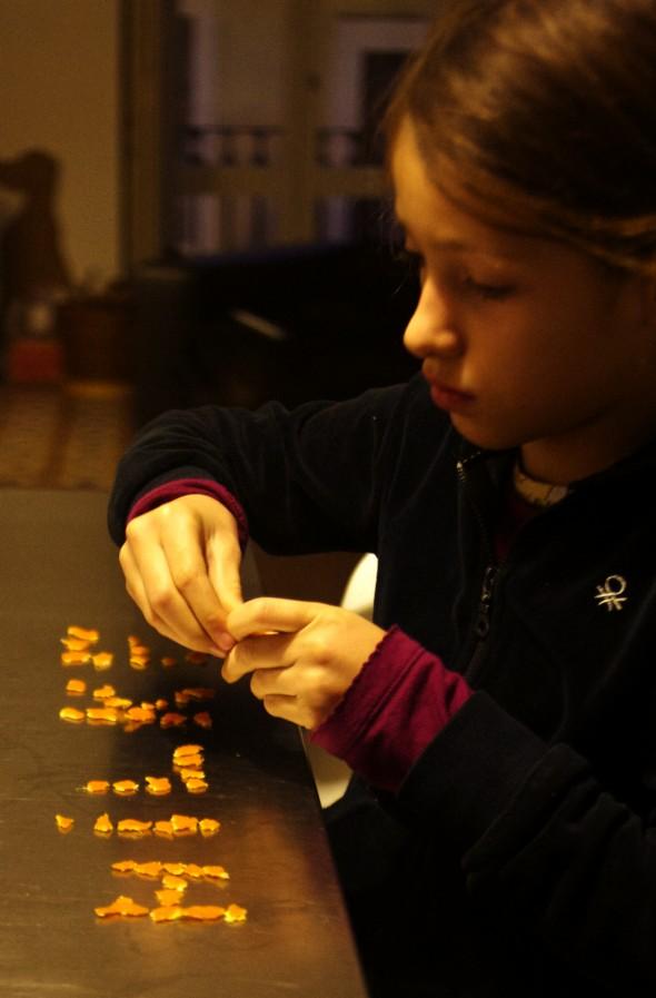 clementinen schale schreiben escribir piel mandarina kids kinder niños children