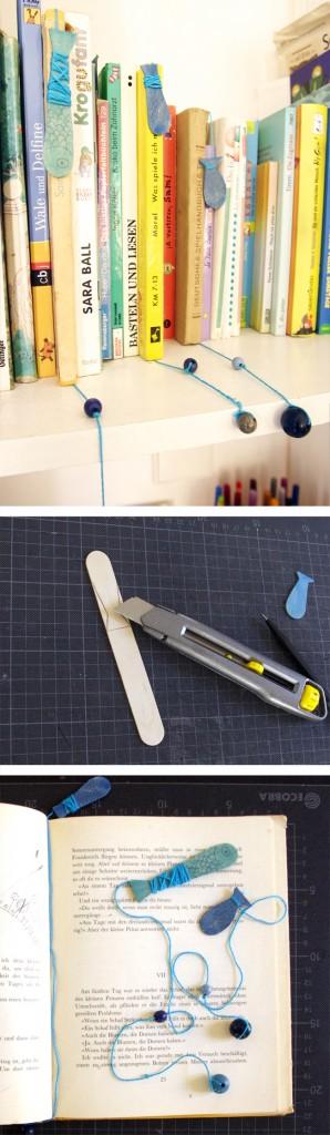 fish fisch pez lesezeichen marcalibros bookmark kids kinder niños basteln craft manualidad
