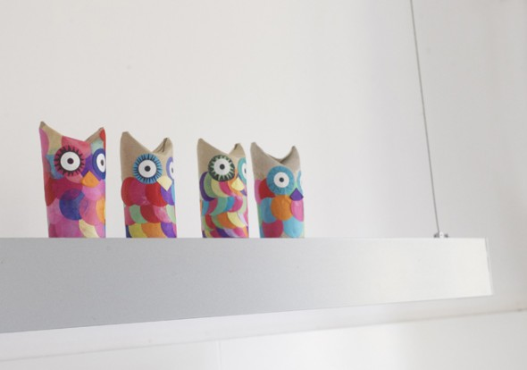 craft manualidad basteln kinder kids niños reciclar recycling facil easy einfach tier animal owl