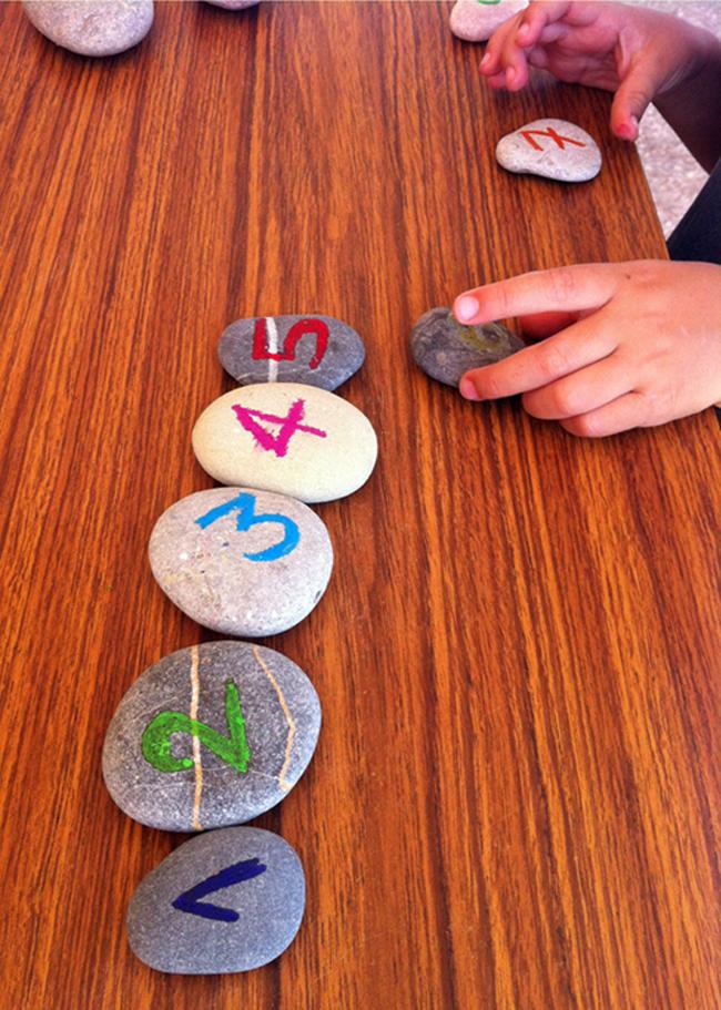 steine numbers in order learn rocks kids numeros ninos aprender zahlen reihenfolge lernen kinder