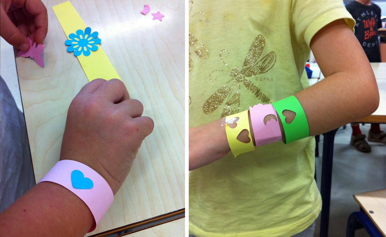 Pulsera de papel / Paper- Bracelet / Papier- Armband