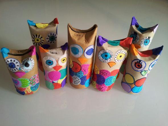 owl papel higienico eule klorolle druckvorlage printable free buho mussol instruccion papel higienico imprimir gratis instruccion