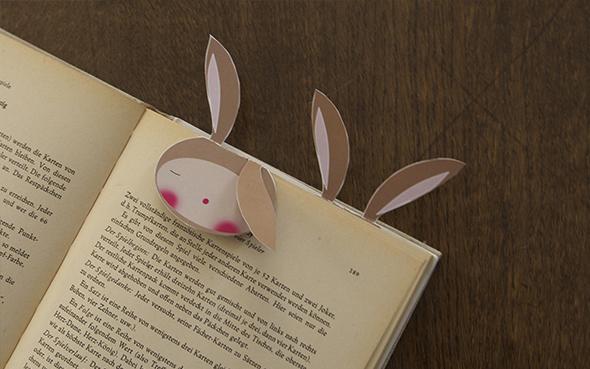 hasen lesezeichen bunny kids rabbit conejo bookmark marca paginas free printable download gratis imprimir drucken
