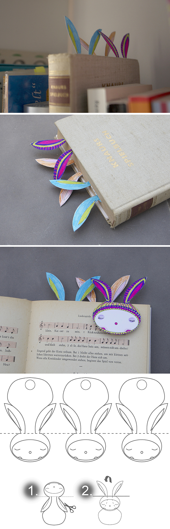 hasen lesezeichen bunny rabbit conejo bookmark marca paginas free printable download gratis imprimir drucken copia