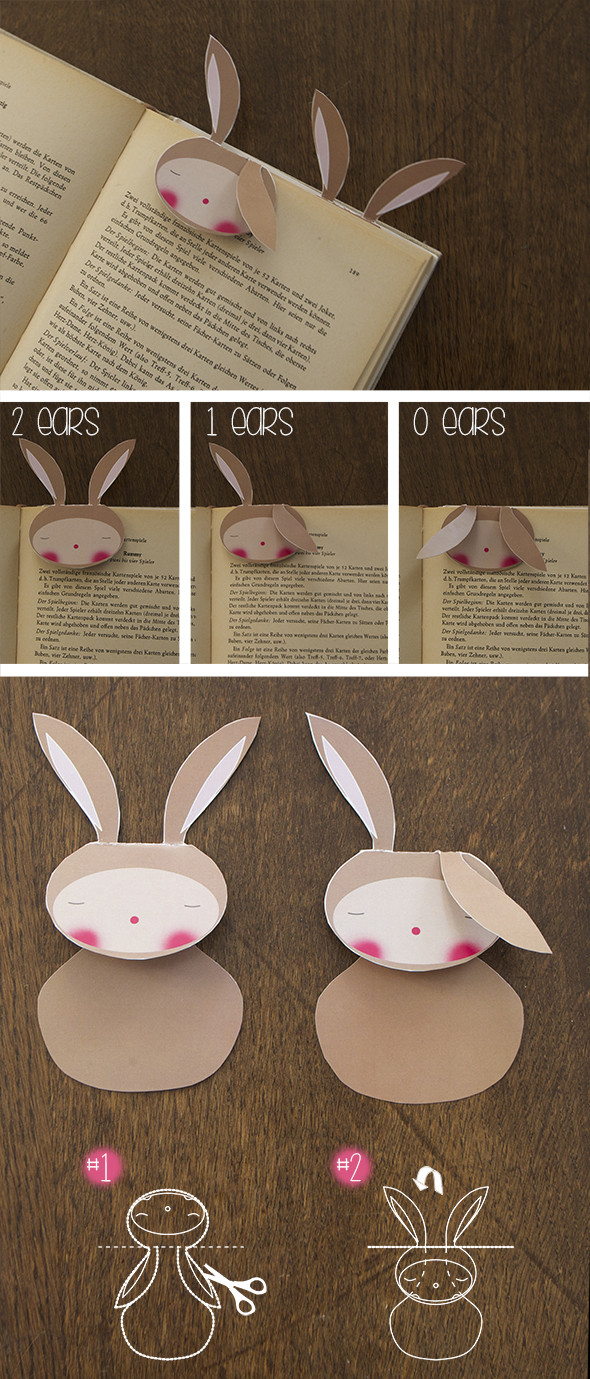 hasen lesezeichen bunny rabbit conejo bookmark marca paginas free printable download gratis imprimir drucken