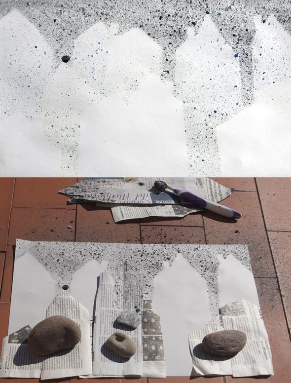 ciudad city stadt kids kinder niños spritzen salpicar sprinkle manualidad craft diy basteln art arte kunst