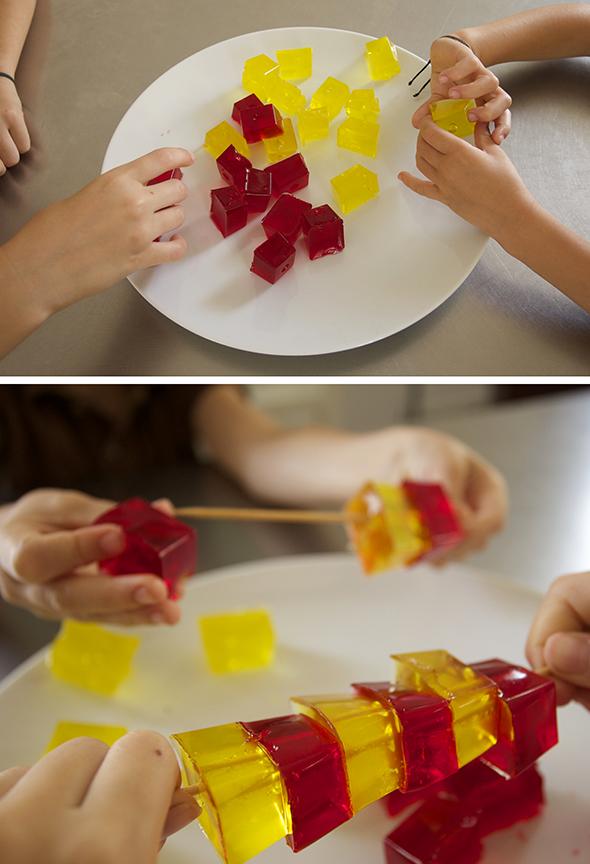 cubitos gelantina wackel peter eiswürfelform construccion bauen kids kinder niños building blocks eatable