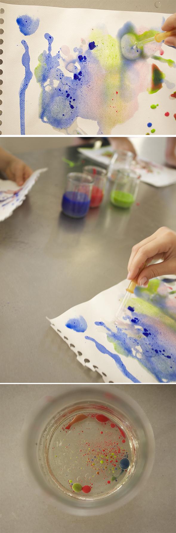 pintar contargotas pipete aceite color Color oil paint pipette Farbe Öl Pipette kinder kids niños arte kunst art