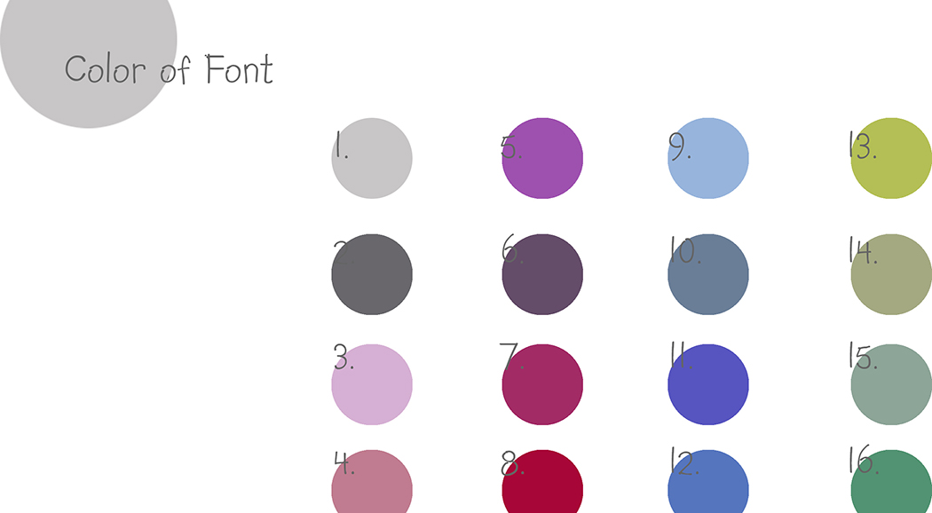 COLOR OF  FONT