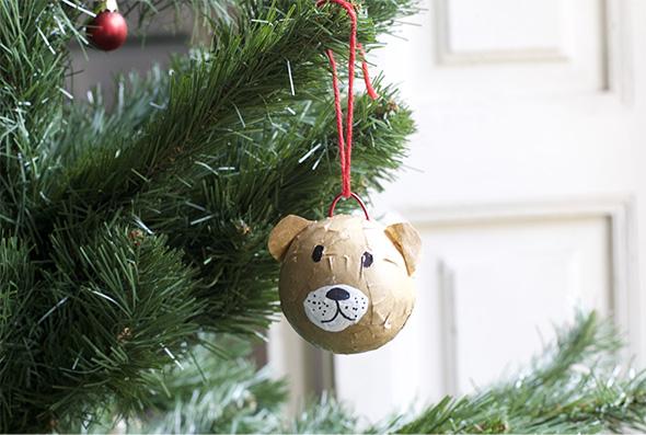 weihnachtskugel craft basteln manualidad easy einfach simple bolas de Navidad Christmas balls instruccion anleitung