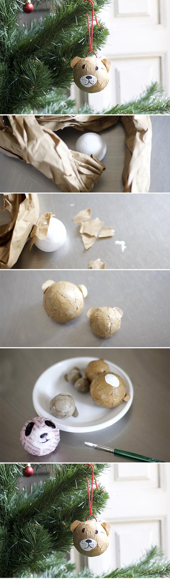weihnachtskugel craft basteln manualidad easy einfach simple bolas de Navidad Christmas balls