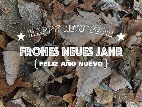 FELIZ AÑO NUEVO FROHES NEUES JAHR HAPPY NEW YEAR