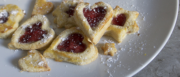 Cookies with hearts / Galletas con Corazon / Kekse mit Herz