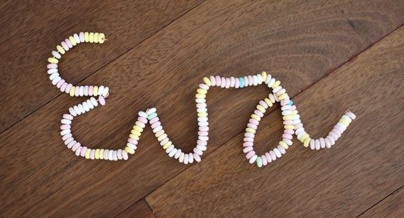 Letras dulces / Sweet letters / Süße Buchstaben