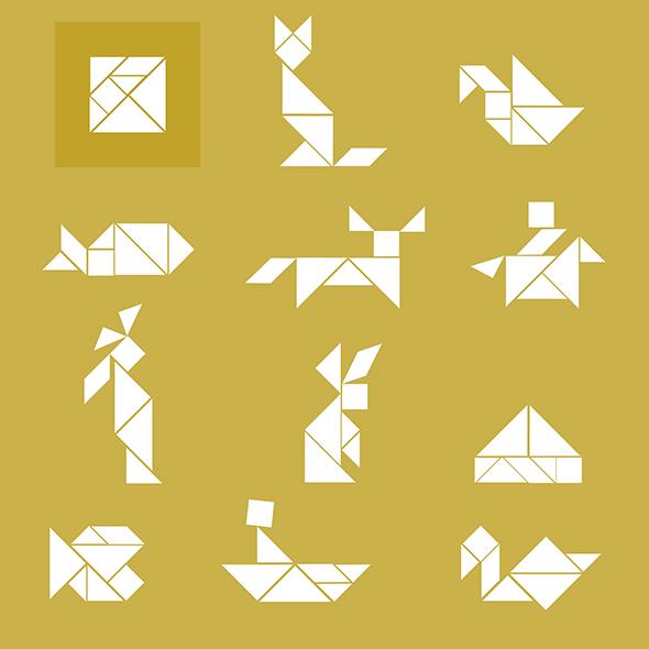 Tangram solucion loesung solution figures figuren formen forma shapes figuras