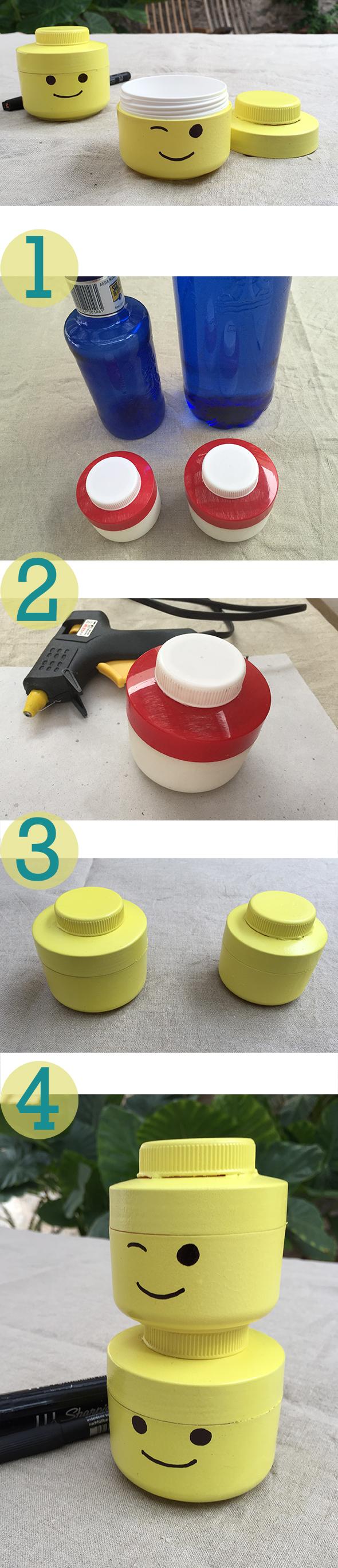 lego kopf recycling basteln manualidad craft