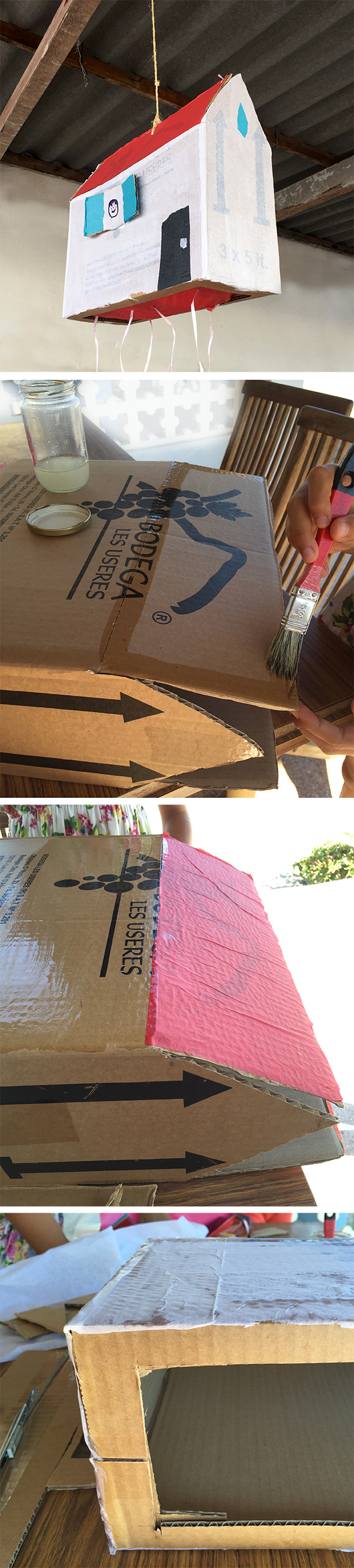 pinata carton cardboard karton cumpleanos facil rapido geburtstag birthday spiel game