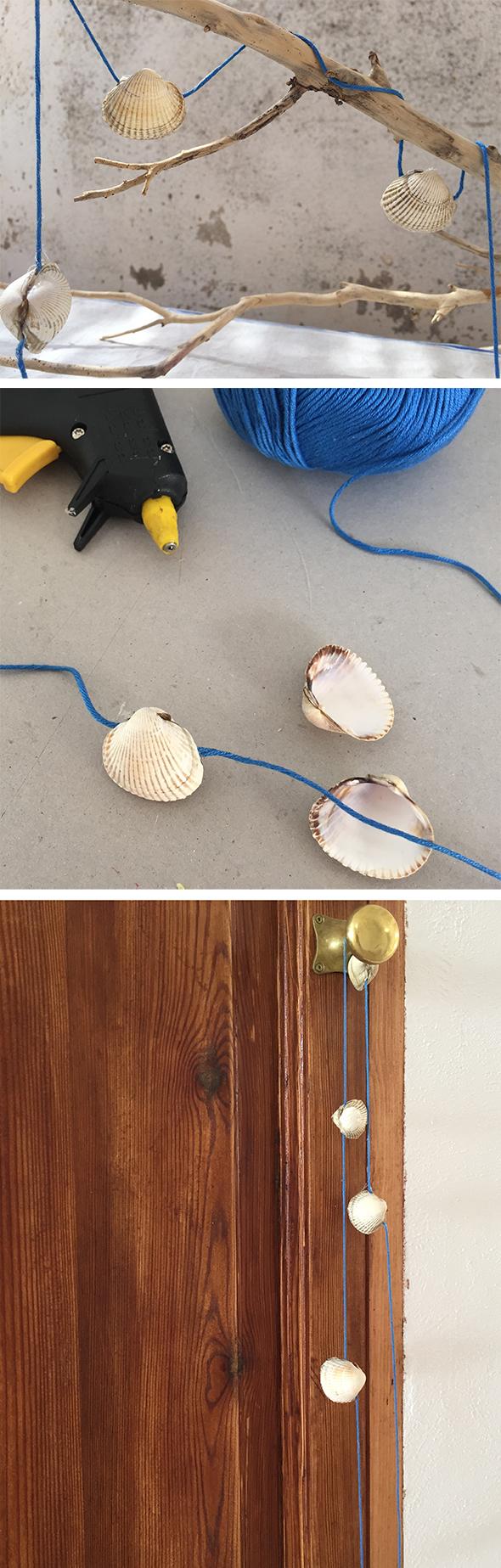 muscheln girlande sommer conchas verano guirnalda shells garland summer basteln manualidad craft