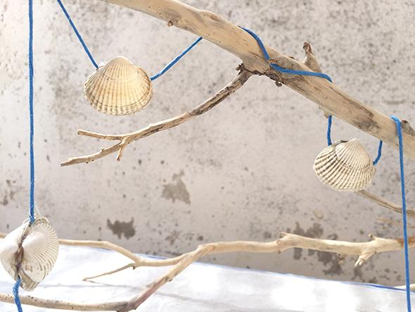 Muschel Girlande / Concha guirnalda / Shells garland