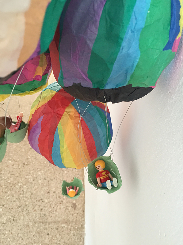 luftballon globo miniatura playmobil basteln craft papier manualidad kids ninos kinder spass miniatur