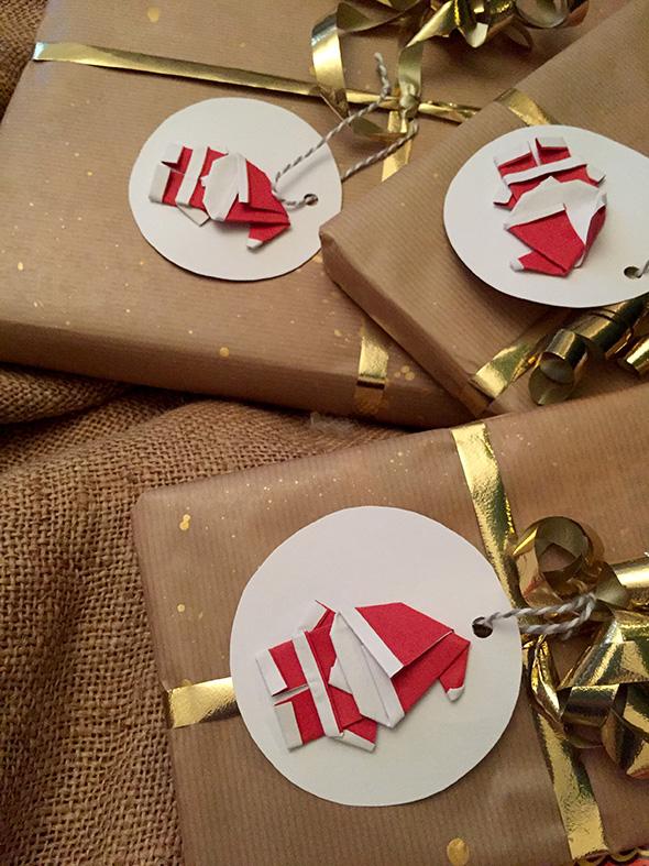 Origami Weihnachtsmann / Papa Noel / Santa Claus